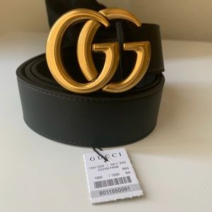 –New Gucci Belt Aüthentic Double G Marmot GG